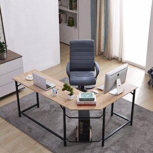 Menasha Corner L-Shape Executive Desk by Latitude Run