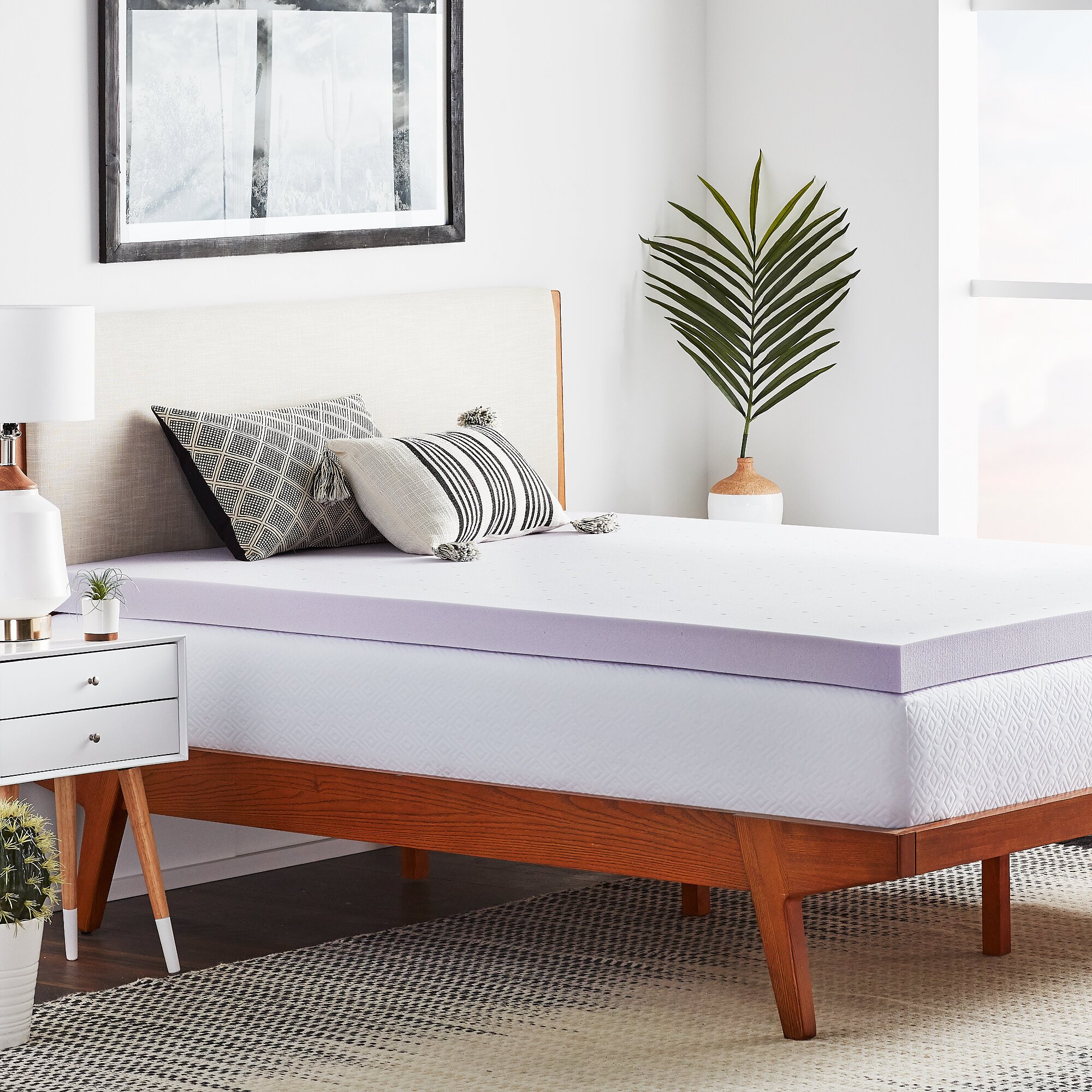 Lucid Lavender 3 Memory Foam Mattress Topper Reviews Wayfair
