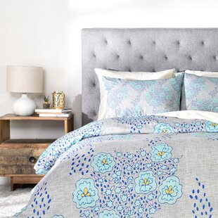 turquoise floral duvet cover set - Turquoise Bedding