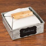 Flat Napkin Holder Wood Paper Towel Napkin Holders You Ll Love In 2021 Wayfair