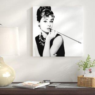 f1b8dd4b0090 Radio Days  Breakfast at Tiffany s Series  Audrey Hepburn Smoking   Photographic Print on Canvas