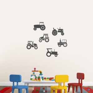 Tractors Wall Decal (Set Of 6) Part 92