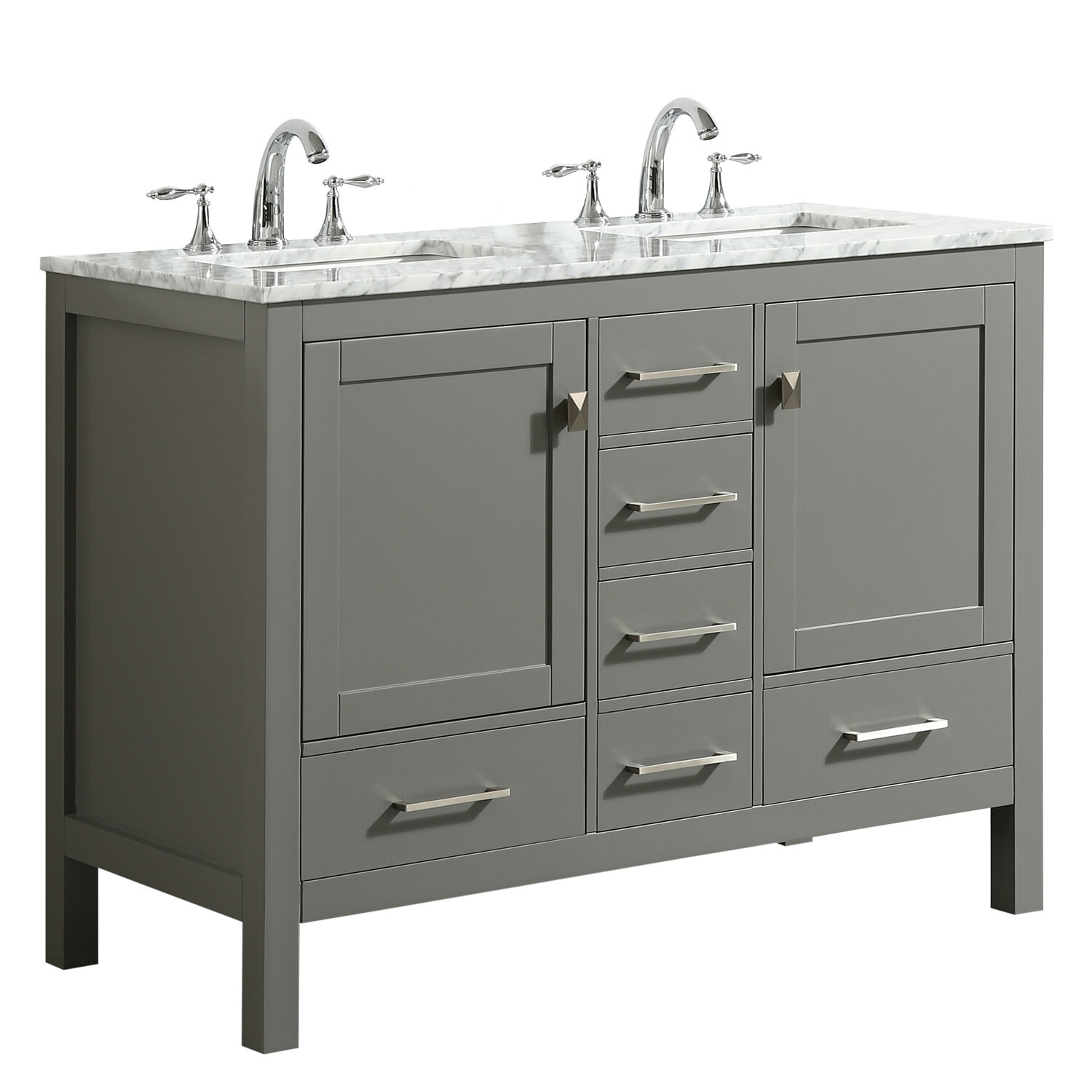 Wrought Studio Furlow 48 Double Bathroom Vanity Set Reviews