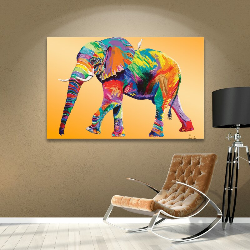 Elephant Wall Art - 'The Ride' - Graphic Art Print on Canvas