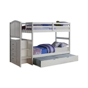 Donco Kids Twin over Twin Bunk Bed with Trundle