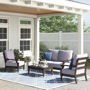Peregrine 4 Piece Sofa Seating Group with Cushions