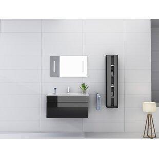 Kimbrough 36 Wall-Mounted Single Bathroom Vanity Set with Mirror by Orren Ellis