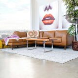 Spring Street 97 Genuine Leather Sectional Sofa & Chaise by Foundry Select