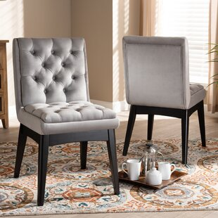 Tufted Upholstered Parsons Chair Set of 2 by Andover Mills Baby amp Kids