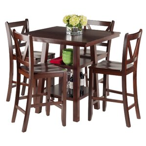Orlando 5 Piece Pub Table Set by Luxury Home