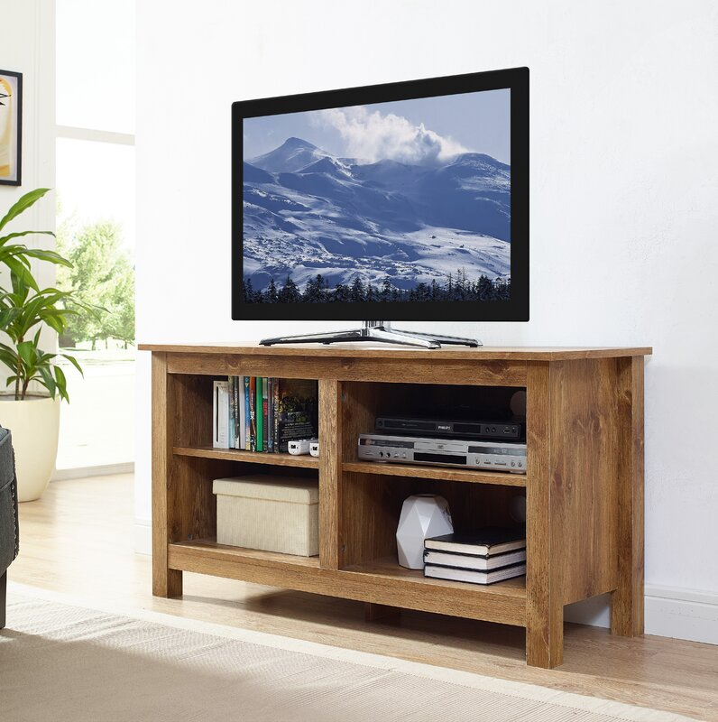 Alanson Wood Storage Media Tv Stand For Tvs Up To 48