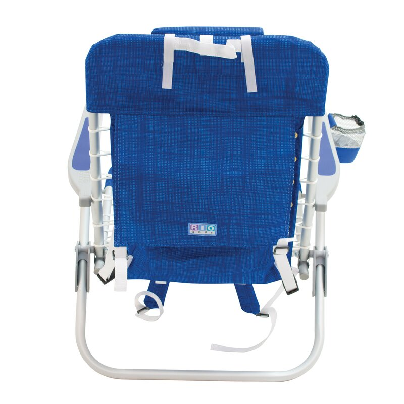 6f4a0c6b07 4-Position Lace-Up Backpack Reclining Beach Chair