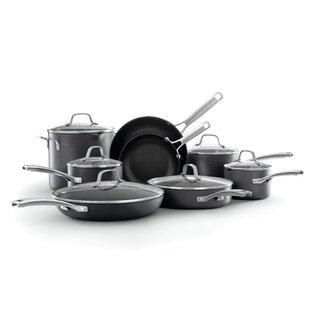 7PC Cookware Set Pan Pot en acier au carbone Non Stick Casserole Couvercle en Verre Cuisine Fry