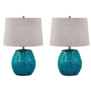 Albrecht Leaf Terra Cotta 25 Table Lamp (Set of 2)
