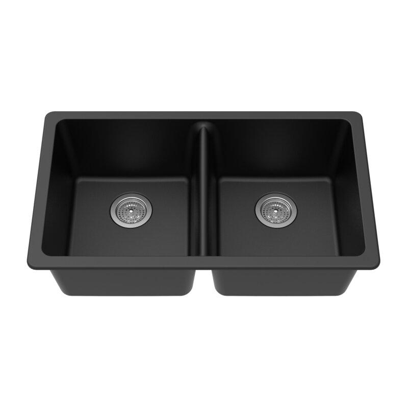 Winpro Evier De Cuisine A Double Cuve En Quartz Granite