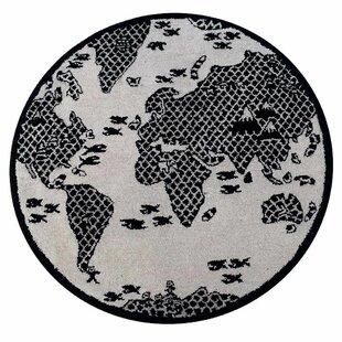 Best Stallard Hand-Tufted Wool Cream/Black Indoor/Outdoor Area Rug ByHarriet Bee