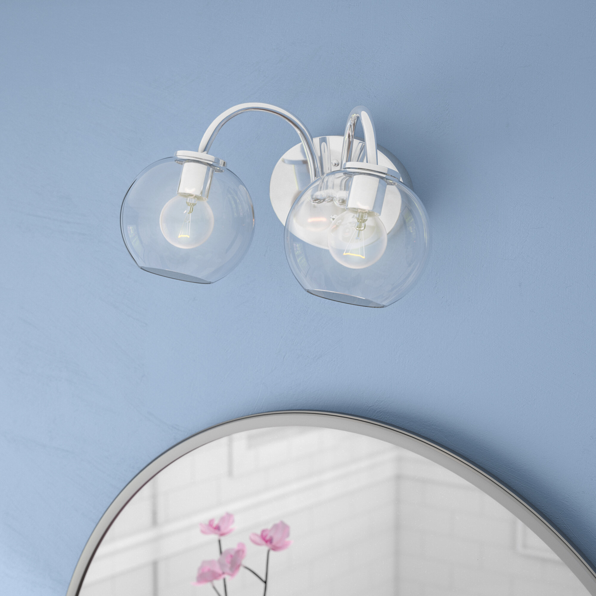 Marvelous Carnkirn 2 Light Vanity Light Download Free Architecture Designs Aeocymadebymaigaardcom
