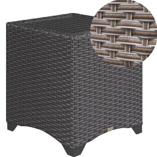 Aluminum Slat Top Side Table