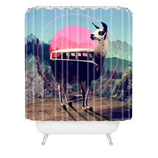 Ali Gulec Llama Van Single Shower Curtain