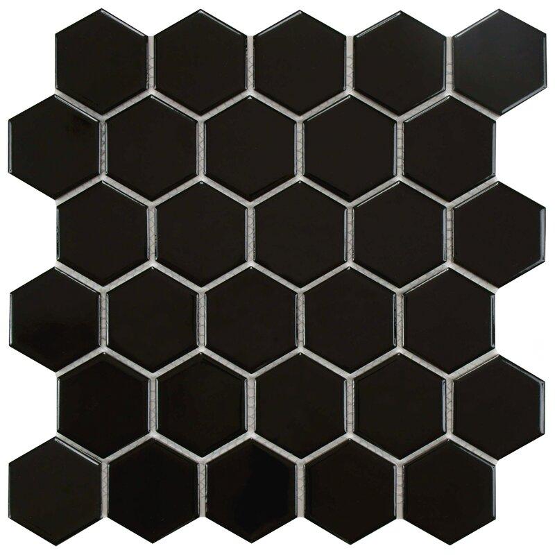 """EliteTile  Retro 2"""" x 2"""" Porcelain Mosaic Tile"""