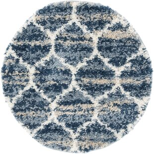 Fan Blue Area Rug by George Oliver