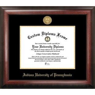 NCAA Indiana Univ, PA Gold Embossed Diploma Frame By Campus Images