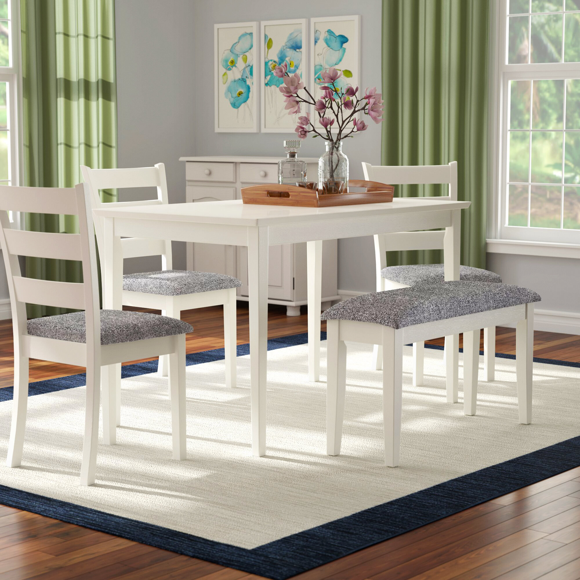 Image of: Cottage Country Dining Table With Chair And Bench Kitchen Dining Room Sets You Ll Love In 2020 Wayfair