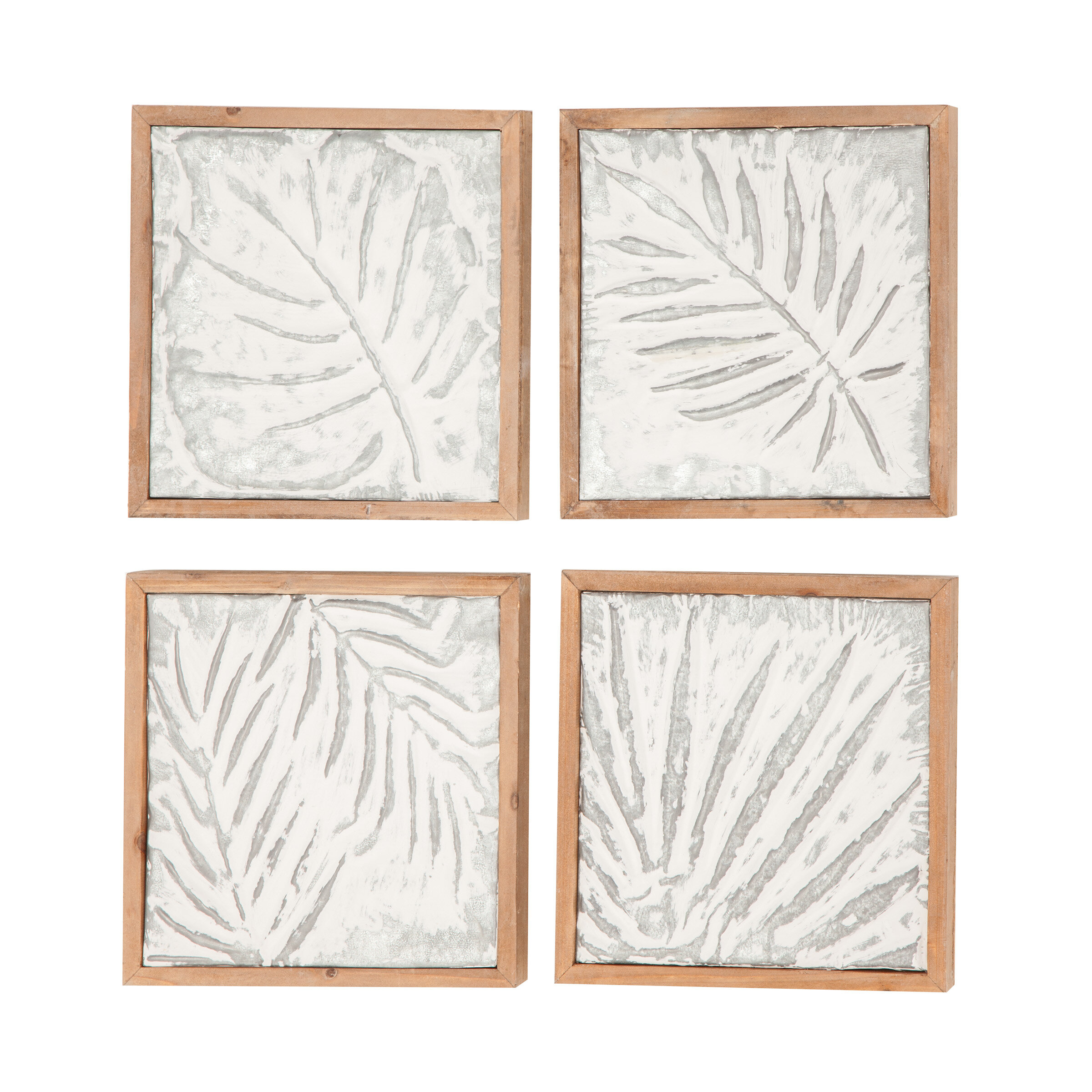 Goodfellow 4 Piece Wood Leaf Wall Decor Set