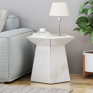 Plympt Pentagon End Table by Orren Ellis