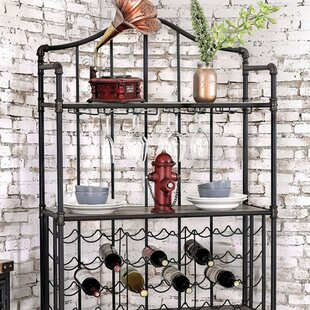 Giovanna Industrial 36 Bottle Floor Wine Rack
