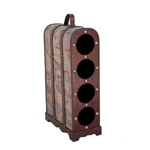 Bellbrook Wooden 4 Bottle Tabletop Wine Rack