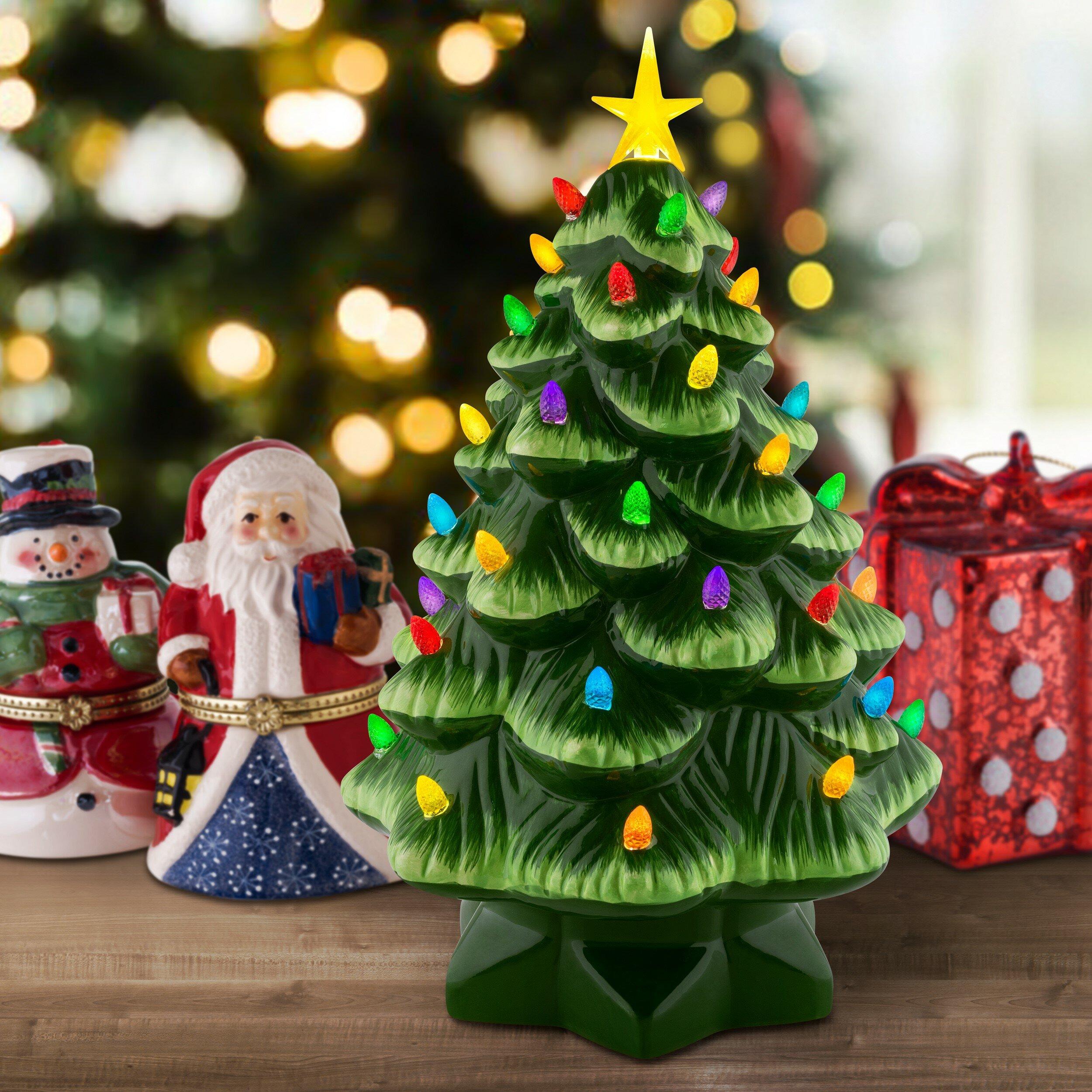 The Holiday Aisle Nostalgic Christmas Tabletop Tree Reviews Wayfair