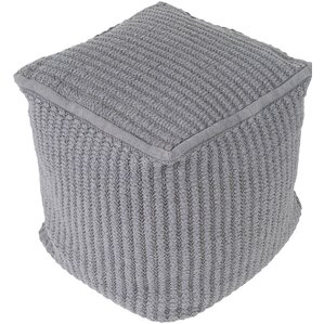 Hochler Pouf Ottoman by Rosecliff Heights
