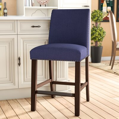 Incredible Darby Home Co Putcha 25 Bar Stool Upholstery Blue Caraccident5 Cool Chair Designs And Ideas Caraccident5Info