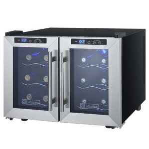 12 Bottle Cascina Series Dual Zone Freestanding Wine Cooler by Allavino