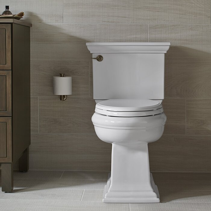 Memoirs Clic Comfort Height 2 Piece Elongated 1 28 Gpf Toilet With Aquapiston Flush Technology And Left Hand Trip Lever Concealed Trapway
