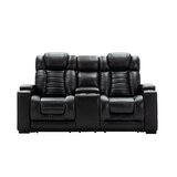 Alkire 75 Wide Faux Leather Pillow Top Arm Reclining Loveseat by Red Barrel Studio®