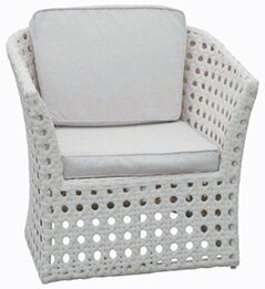 Sheffield Wicker Deep Seating Chair with Cushion