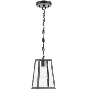 Great choice 1-Light Square/Rectangle Pendant By Light Society