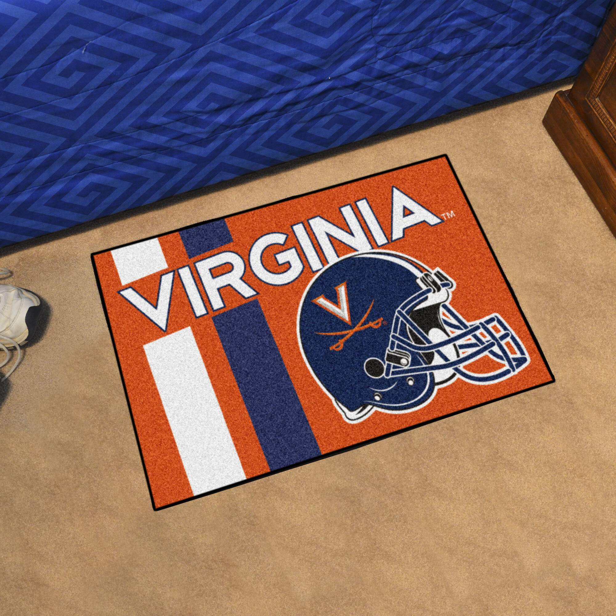 Fanmats Ncaa University Of Virginia Starter 30 In X 19 In Non Slip Indoor Only Mat Wayfair
