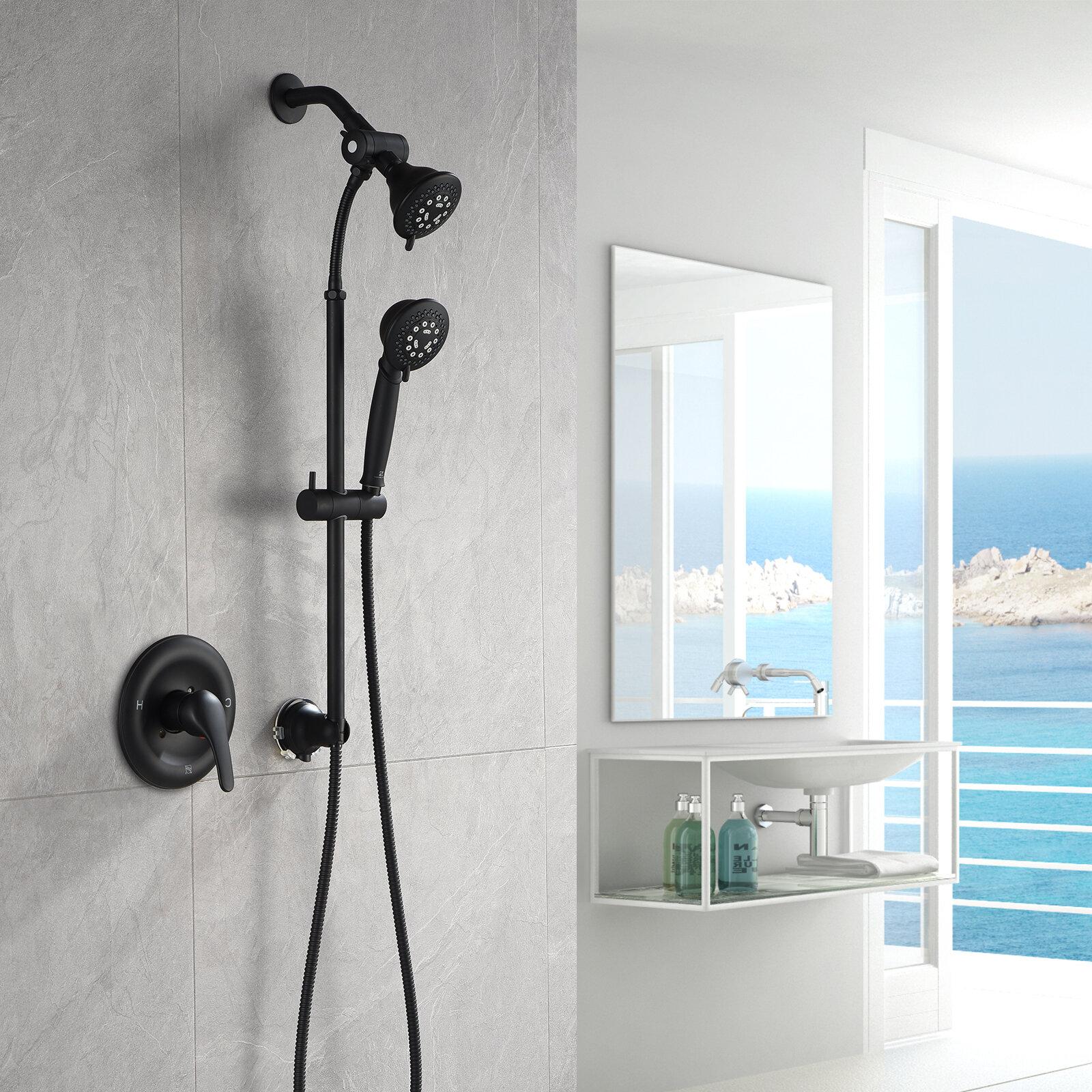 Mounted Self-adhesive Drill-free Shower Seat Showerhead Rack Shower Head Holder
