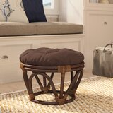 Xavier 18 Tufted Round Standard Ottoman by Beachcrest Home™