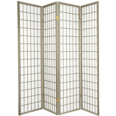 Bungalow Rose Leiva Room Divider Color: Gray, Number of Panels: 4