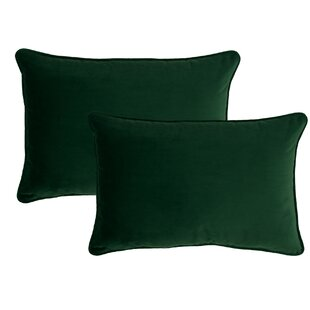 Glendon Velvet Lumbar Pillow (Set of 2)