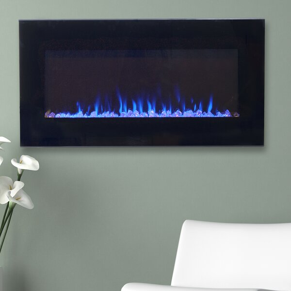 Wall Hanging Electric Fireplace wade logan arlo led wall mount electric fireplace & reviews | wayfair