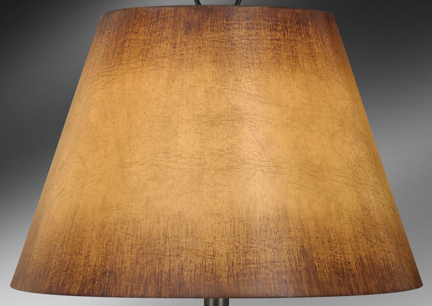 424-Antique Parchment, SI51617 Slant Transitional Bell Faux Leather Softback Lampshade with Washer Fitter
