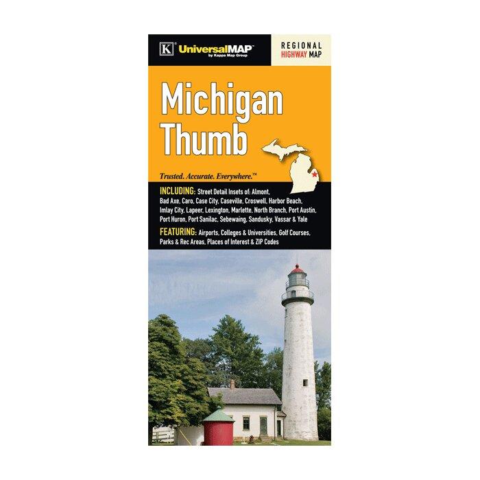 Michigan Thumb Regional Fold Map on