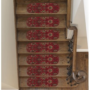 Ryan Leaf Red Stair Tread (Set Of 7)