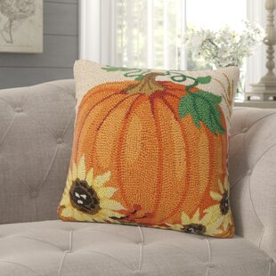 Plotkin Harvest Pumpkin Hook Throw Pillow