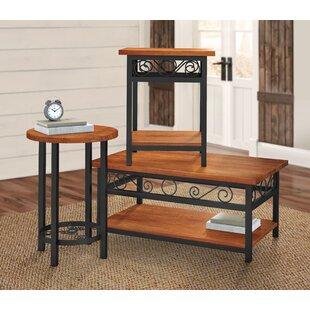 Bargain Carrollton 3 Piece Coffee Table Set ByLoon Peak